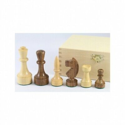 Chess figures - Palisander and Boxwood - modern shape - Kings height 89mm