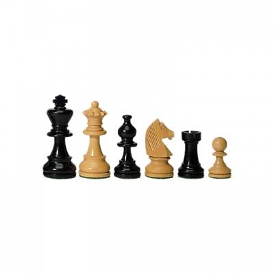 Chess figures - Ebony and Boxwood - 83 mm