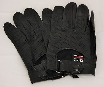 Gates PITTARDS Black Leather Driving Gloves ~ Size Large