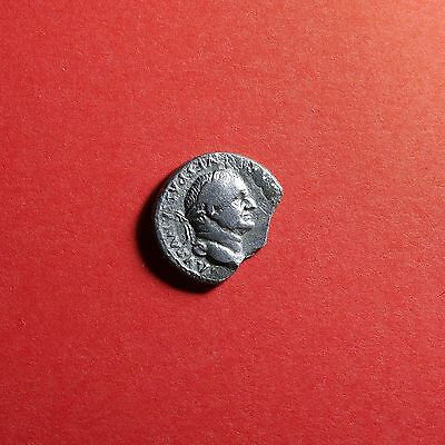 Denarius VESPASIAN Broken Ancient Roman Silver Coin 2007H