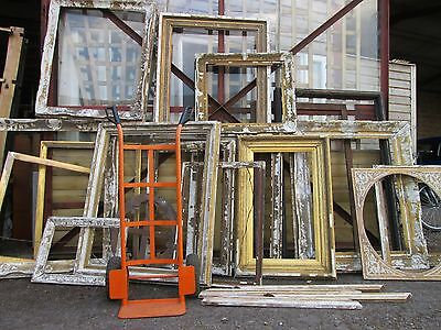 Large Quantity of Victorian Picture Frame Carved Gilt Gesso For Restoration