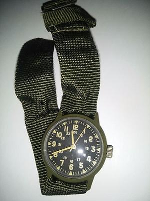 Vintage Vietnam Plastic Watch Free Shipping Military issue Wind up Rare