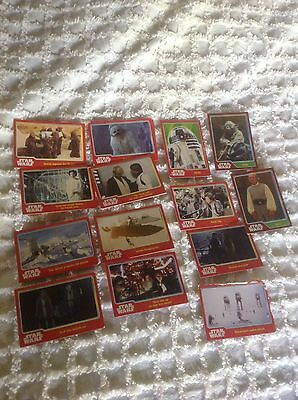 Star Wars Collectable Trading Cards X 16