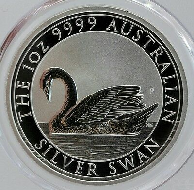 Australian Swan 1 oz .9999 pure Silver from the  Perth  Mint comes in Capsule