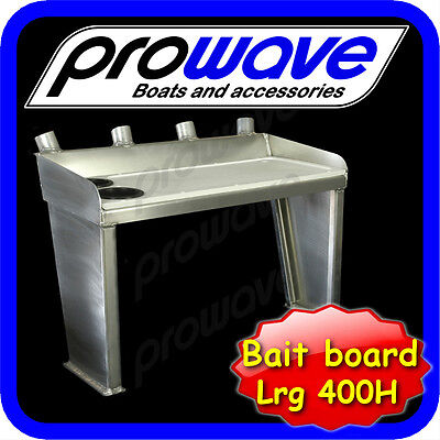 Bait board Standard, 400mm fixed legs, 2 cup holders Large Unpainted