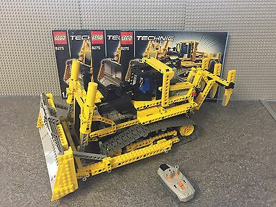 LEGO Technic Motorized Bulldozer (8275) 100% Complete With All Manuals