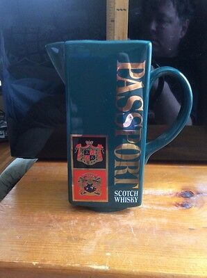 Whisky Pitcher By Passport Unique green Color Rare  Black Crate
