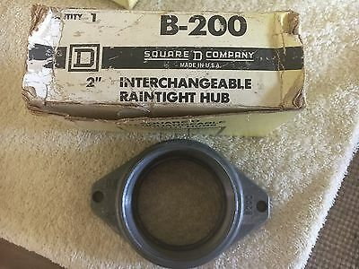 """New Square D B-200 Mounting Hub For 2"""" Rigid Conduit, Lot Or 4"""