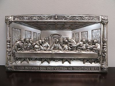 "The Last Supper M. Registrado Pressed Metal 3D Relief Wall Art 25""-14"""