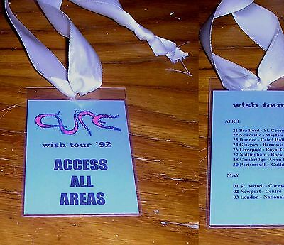 🔥 CURE Wish Tour 1992 plastic pass ALL ACCESS AREAS