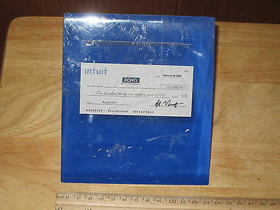 Very Rare $131,000,000 Blank Mini Check By Intuit Echo In Lucite Rare Cool Piece