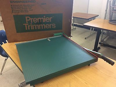 """Martin Yale Premier Trimmers 24"""" Wood Trimmer Guillotine Paper Cutter Model 224"""