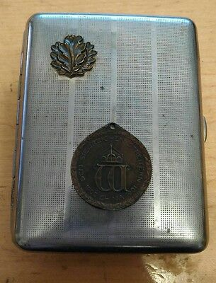 GERMAN EMPIRE 1900, 01 China Campaign Medal for Combatants cigarette case
