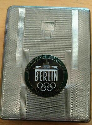 German WWI Olympic games 1933 cigarette case