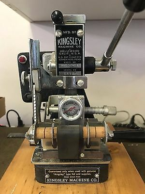 Kingsley M-100-BA Hot Stamping Machine With Type