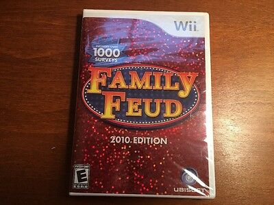 Nintendo Wii Family Feud 2010 Game NEW Factory Sealed Video Game Lot