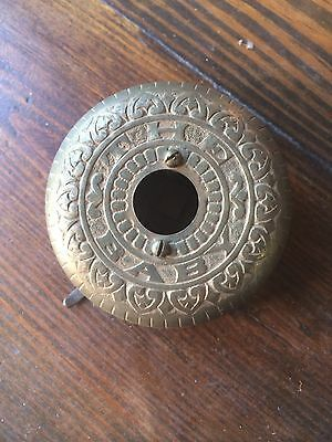 "Brass Baby Bell Solid Ornate 3"" Architectural Salvage Steampunk Rare Industrial"