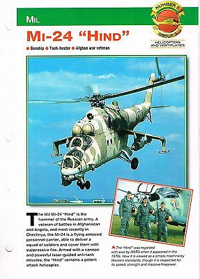 """Aircraft of the World group 3 helicopters and vertiplanes #5  Mil Ml-24 """"HIND"""""""