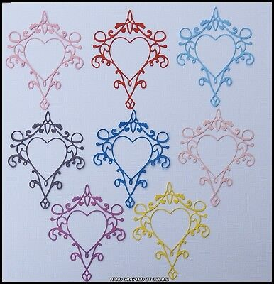Love Heart Frame  Die Cuts X 10,card Making,embellishments,album,wedding,toppers