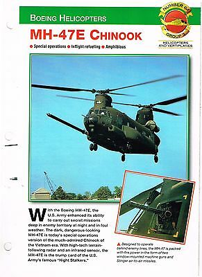 Aircraft of the World group 3 helicopters and vertiplanes #64  MH-47E  CHINOOK