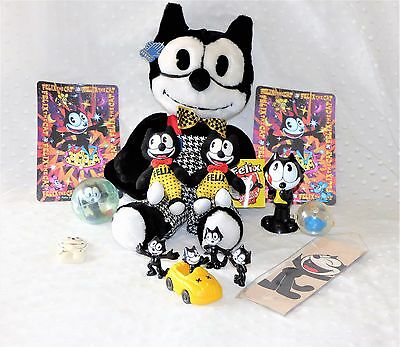 Lot of 13 Felix The Cat Collectibles/ Felix The Cat Plush Toy/Figurines/Bookmark