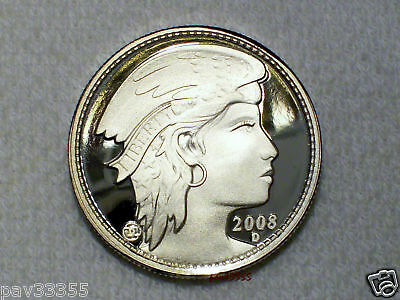 D.Carr  2008 D  50 AMEROS - Union of North America - Silver Round - Proof Finish