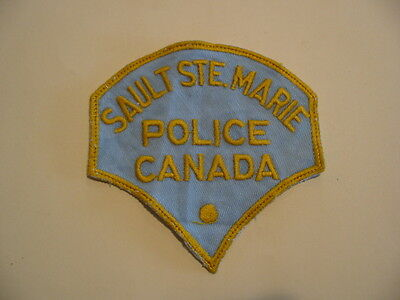 Original Old Style Sault Ste. Marie Police Patch, Ontario, Canada