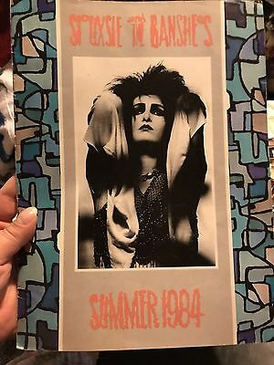 Siouxsie & The Banshees 2 Original Tour Programs Hyaena Peep Show Rare