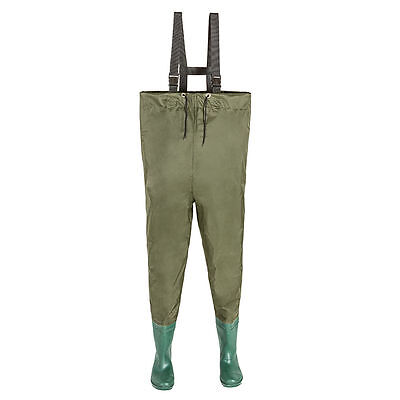 Fishing trousers, waterproof, with waterproof boots, size 44