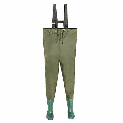 Fishing trousers, waterproof, with waterproof boots, size 48