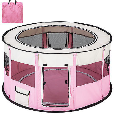 Enclosure for dog or cat puppies, ideal puppies, collapsible, pink