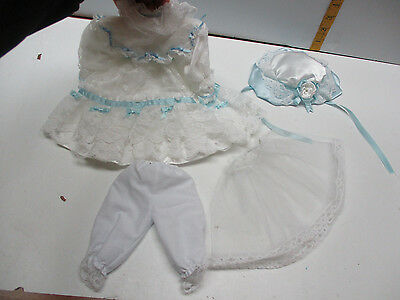 "BEAUTIFUL VICTORIAN STYLE LACE DOLL DRESS For Vintage Antique China 16""  doll"