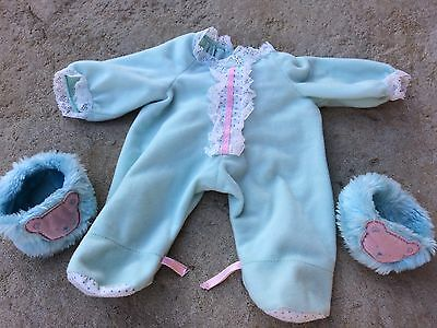 Vintage My Child Doll Outfit with Booties/Slippers