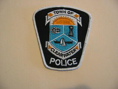 Original Rare Obsolete Town Of Clearwater Police Patch, Ontario, Canada