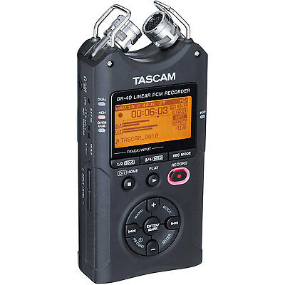 OPEN BOX Tascam DR-40, 4-Channel 96kHz/24-bit Digital Recorder with XLR Inputs