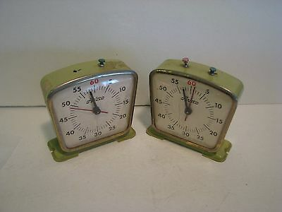 Vintage Aristo Import 60 Second Timer Clock Metal Body Lot 2 Parts/project