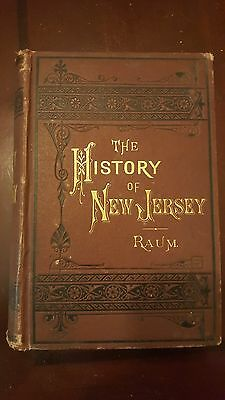 The History of New Jersey Volume II by John O. Raum - First Edition - Hardcover