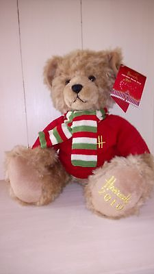 "2010 Harrods 13"" Annual Christmas Teddy Bear, foot dated with tags"