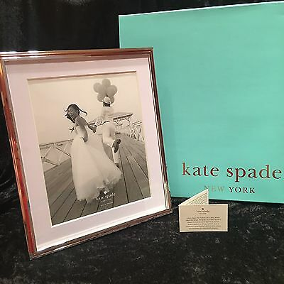 Kate Spade Lenox Picture Frame Rosy Glow 8x10 Silver Rose Gold Plate Wedding Day
