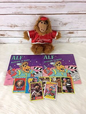 Vintage ALF Lot Plush Baseball Puppet Trading Cards Books 80s 90s Orbiters