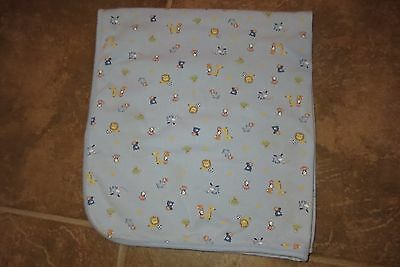 Carter's Child Of Mine Baby Boys Double Knit Blue Sports & Animals Blanket 30X30