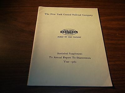 1960 New York Central Railroad Company Nyc Annual Report Statistical Supplement