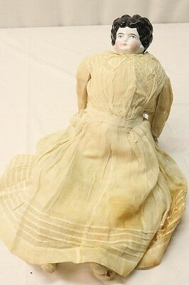 Antique Pink Tint China Shoulder Head Doll China Hands Cloth Body
