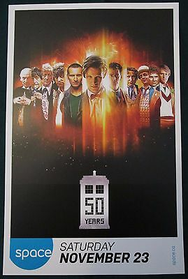 Doctor Who 50 Years Space Channel TV Show Promo Poster Fan Expo Comic Con 2013