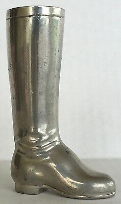Advertising Miniature Silver Equestrian Riding Boot MADE FOR BROOKS BROTHERS