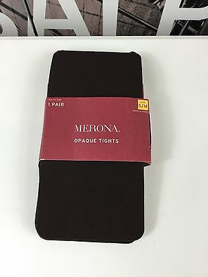 NWT Merona Natures Brown Opaque Tights, , Size S/M
