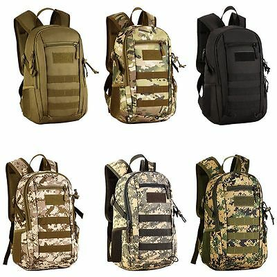 Unisex Tactical Molle Travel Bag Military Rusksack Hiking Camping Backpack 12L