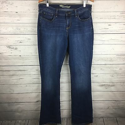 Old Navy The Sweetheart Dark Stone Washed Blue Jean Pants Women's Size 12 Long