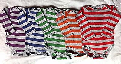 Adorable Baby Boden rainbow body-suit 5 piece set, 18-24 months