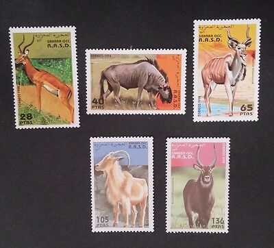 1994- R.A.S.D. SAHARA OCC Set of 6 X Animals Stamp MUH